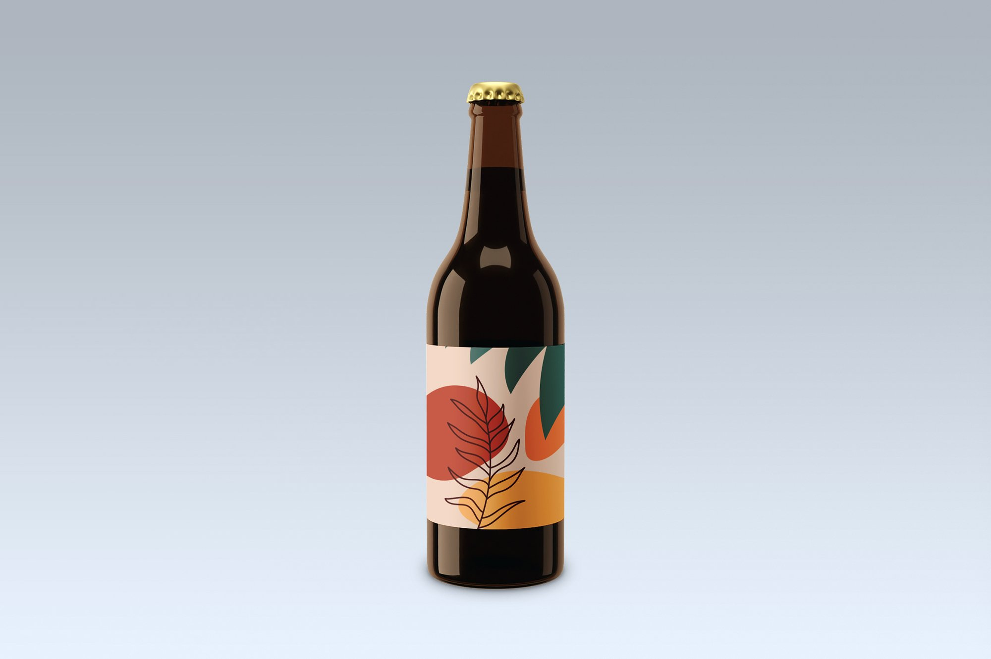 Beer bottle, mock up. example image 2