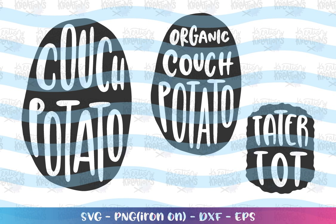 Dad svg Father's Day svg Couch Potatoe Tater Tot matching example image 1