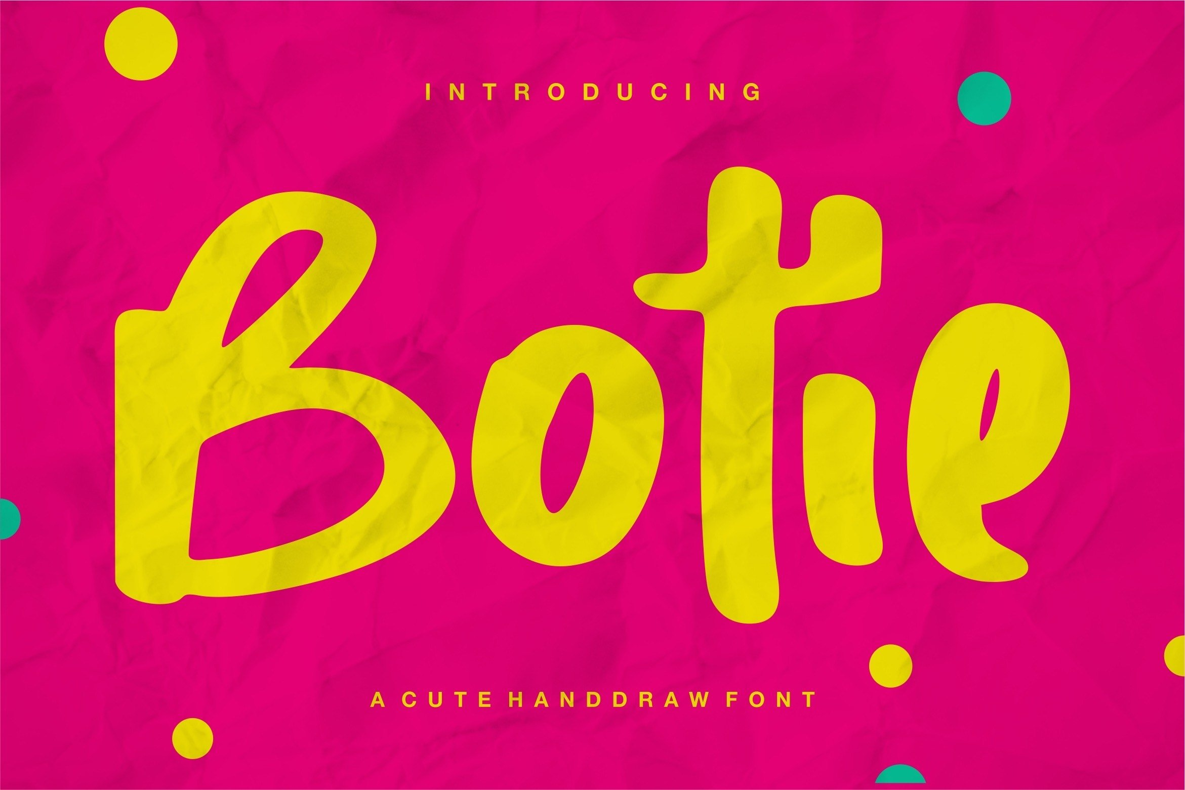 Botie - A Cute Handdraw Font example image 1