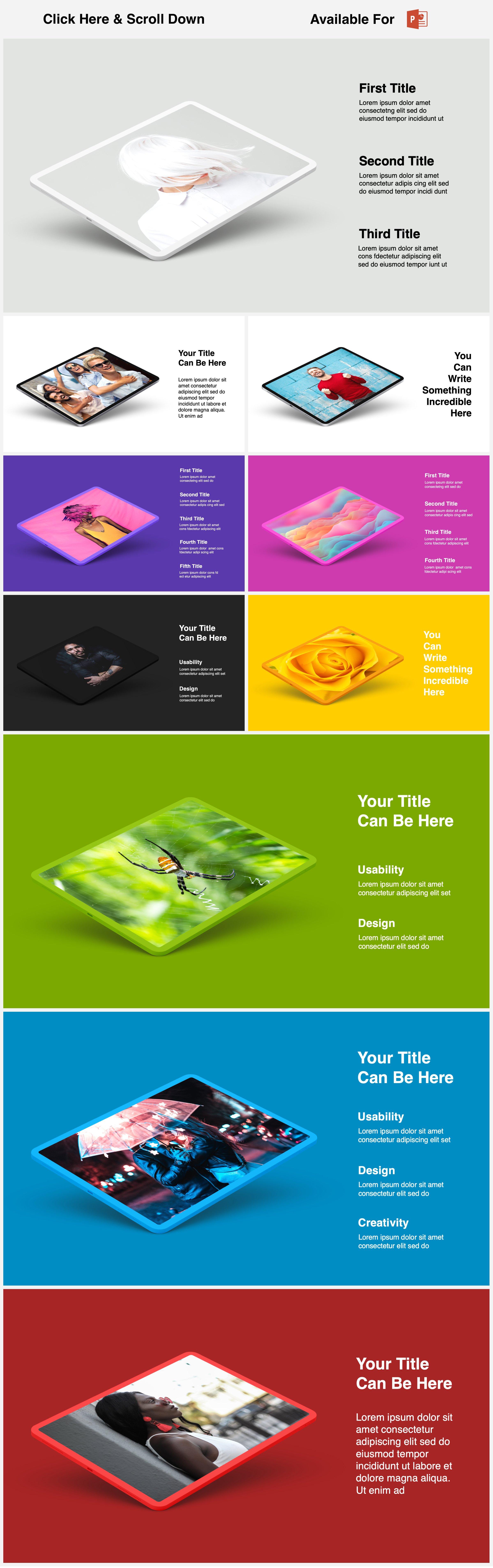 Animated Mockups Presentation Bundle. Infographic Templates. example image 23