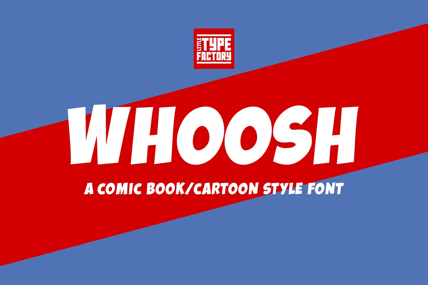 Whoosh - a comic book/cartoon style font example image 10