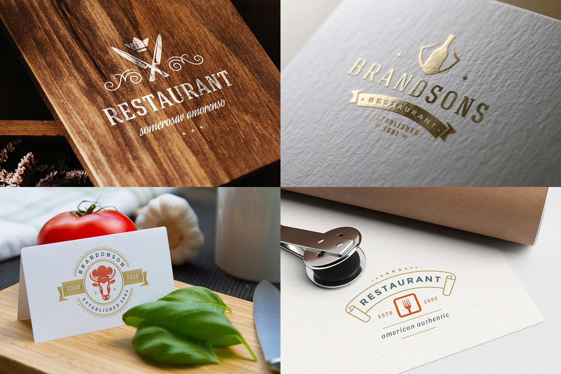 36 Restaurant Logos and Badges example image 12