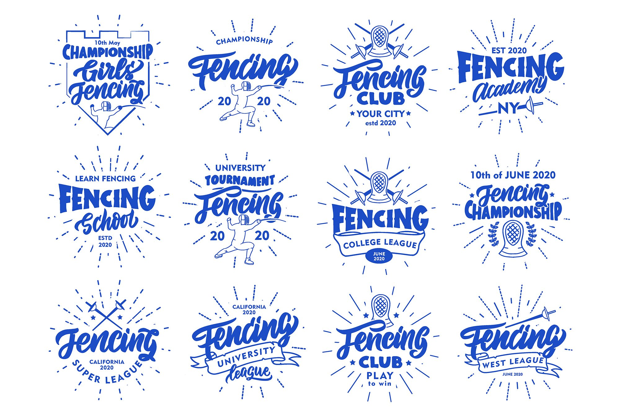 Set of Fencing logos example image 3