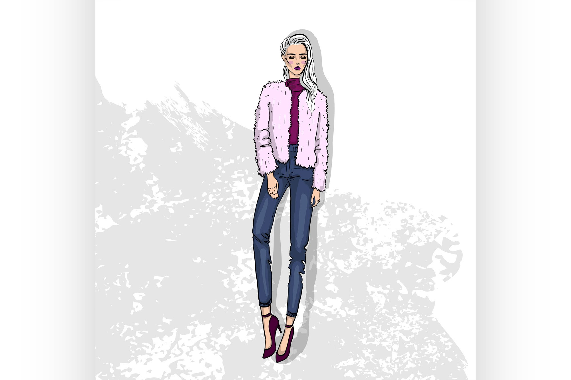 High trendy color look example image 1