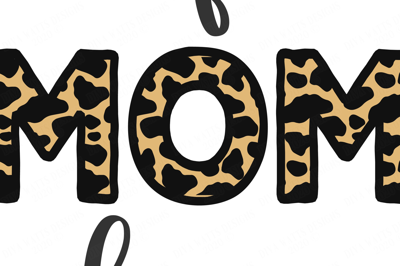 Wife Mom Boss Leopard Print Cutting Files Sublimination 709025 Cut Files Design Bundles