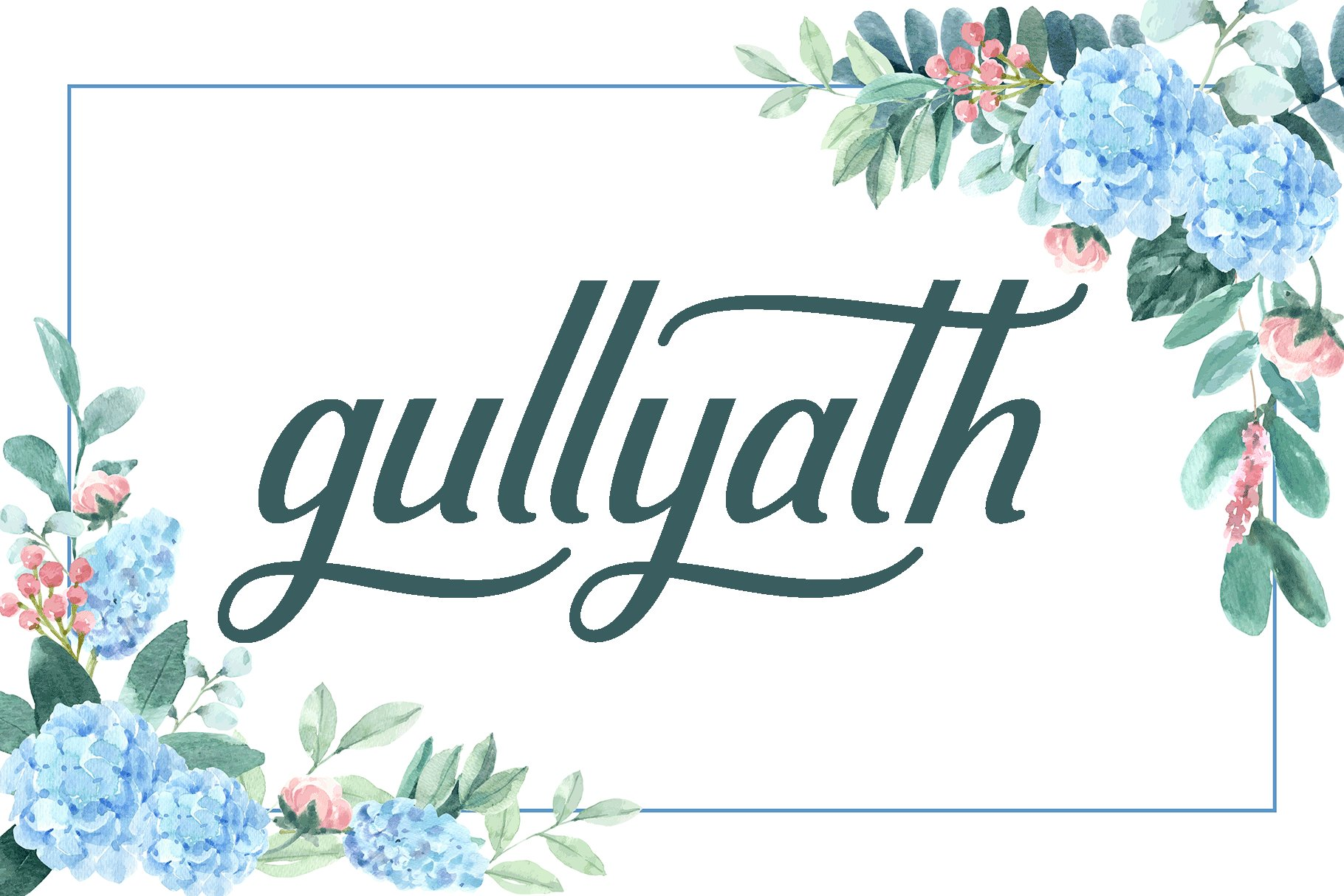 Gullyath,font duo family love example image 9