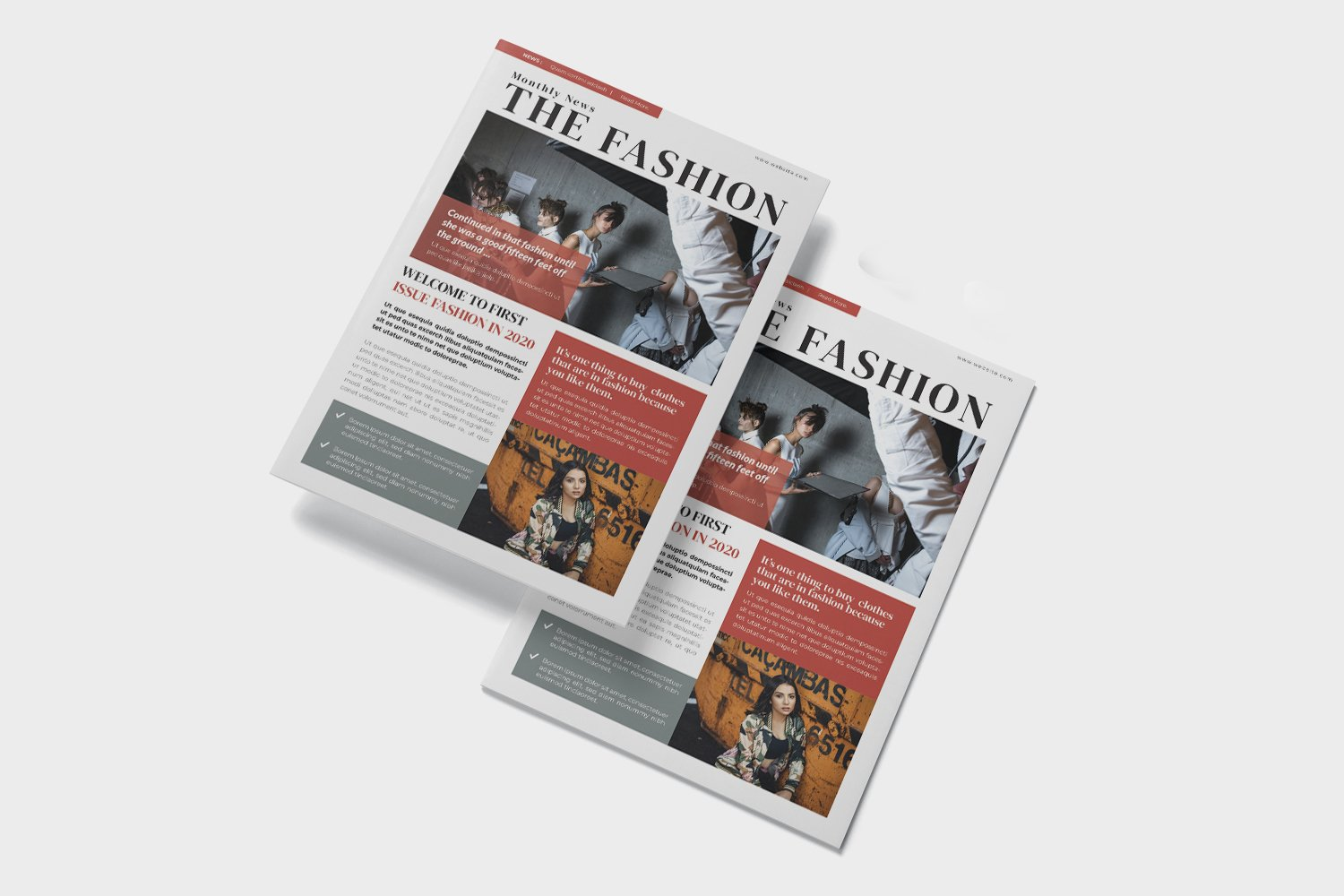 Fashion News Newsletter Template example image 2