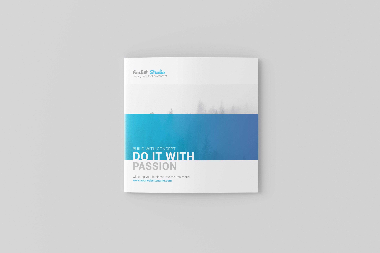 Square Bi-fold Brochure Mockup example image 3