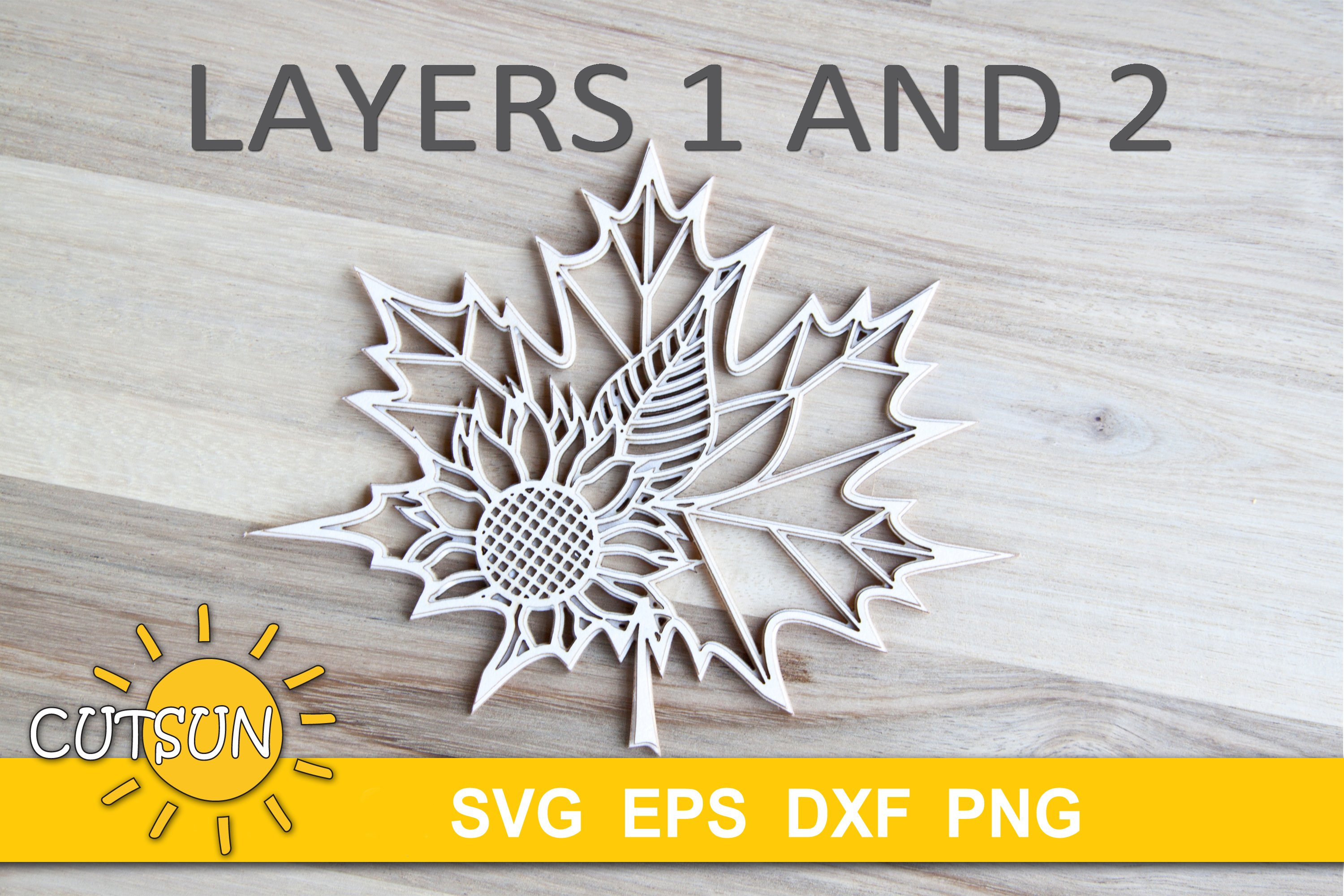 Download 3D Layered Maple Leaf Mandala cut file for crafters ...