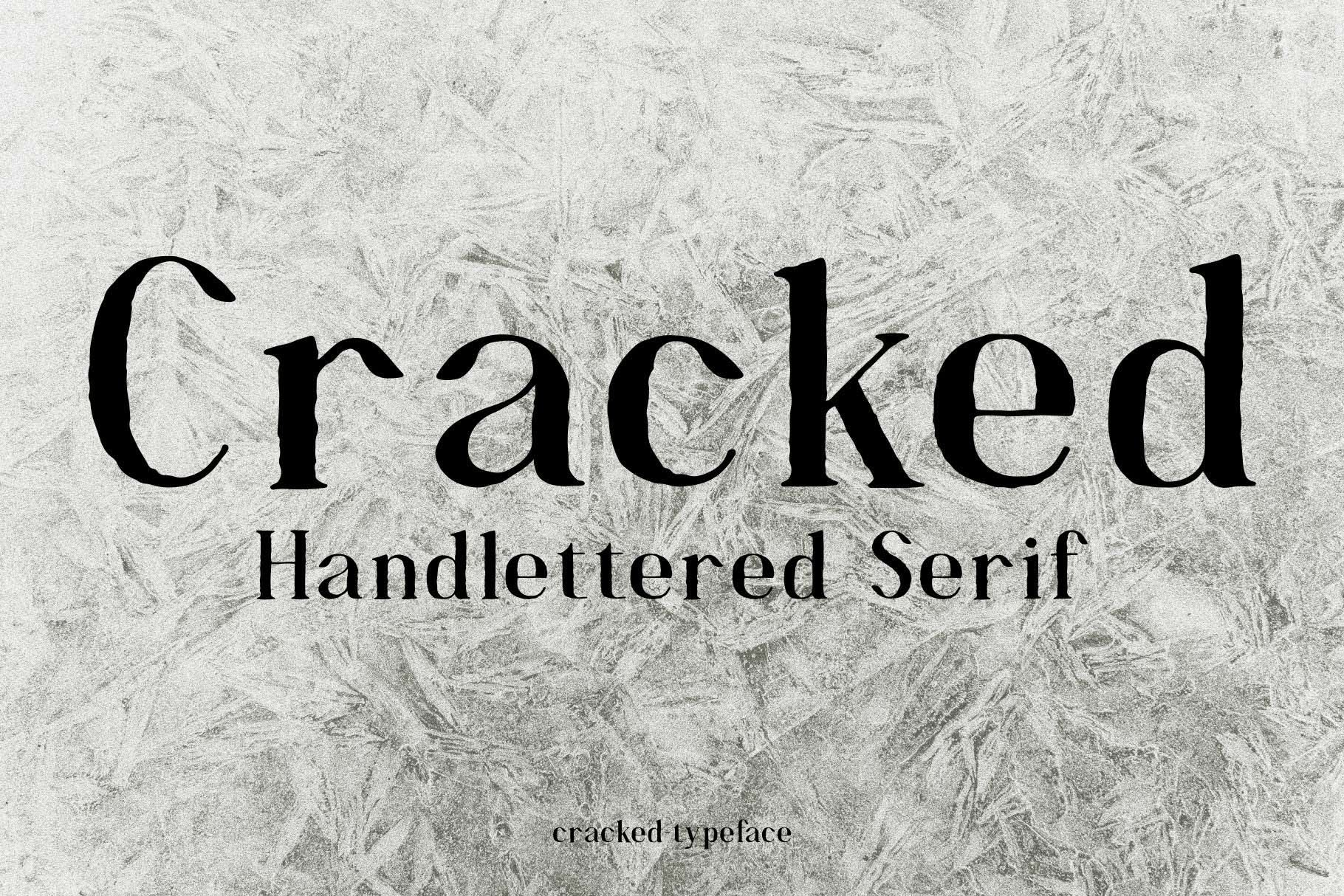 Cracked//A Handlettered Serif example image 7