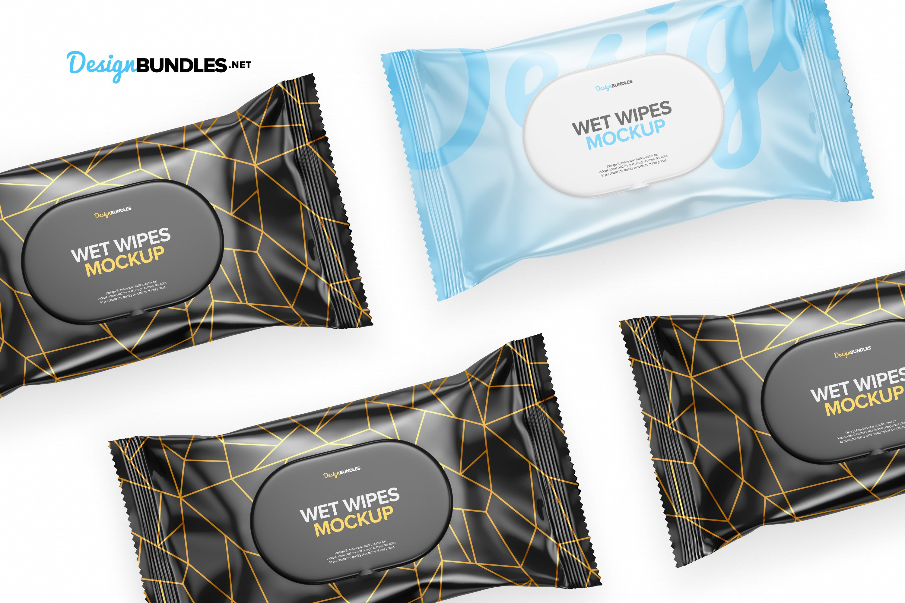 Wet Wipes Pack Mockups example image 6