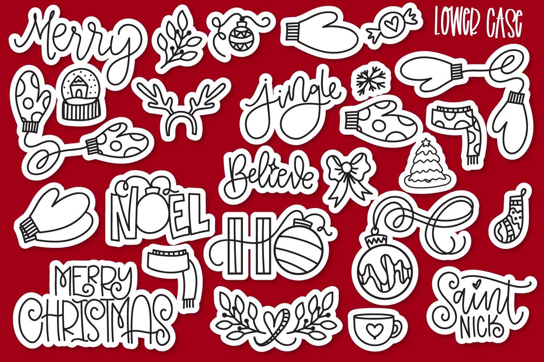 20 Christmas Fonts - A Christmas Font Bundle! example image 10