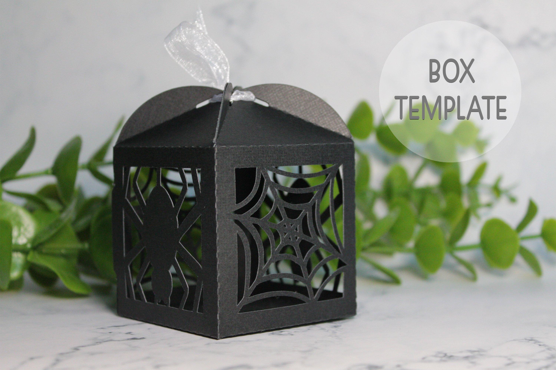 Halloween favor box template, Wedding favor box svg example image 2