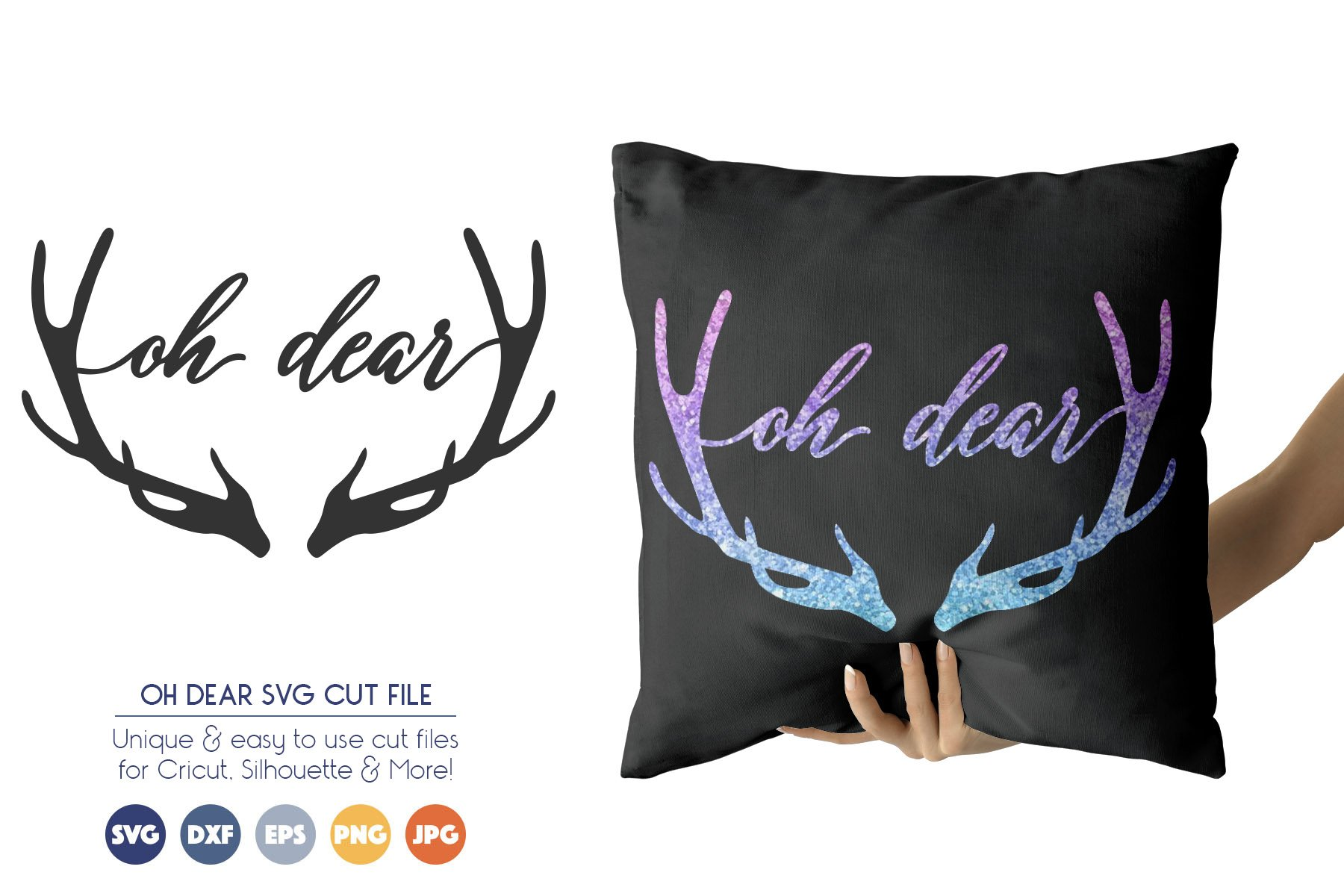 Oh Dear SVG Files - Christmas Deer SVG example image 1