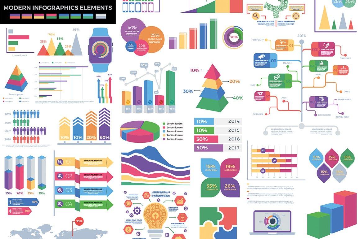 1000 Ultra Big Bundle Infographics Elements example image 7