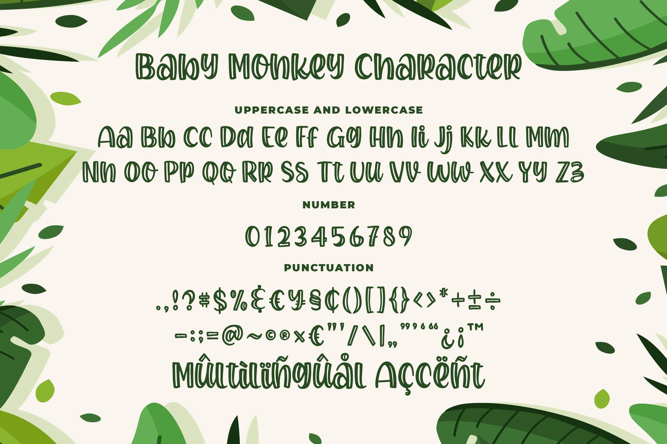Baby Monkey - a Quirky Bouncy Font example image 6