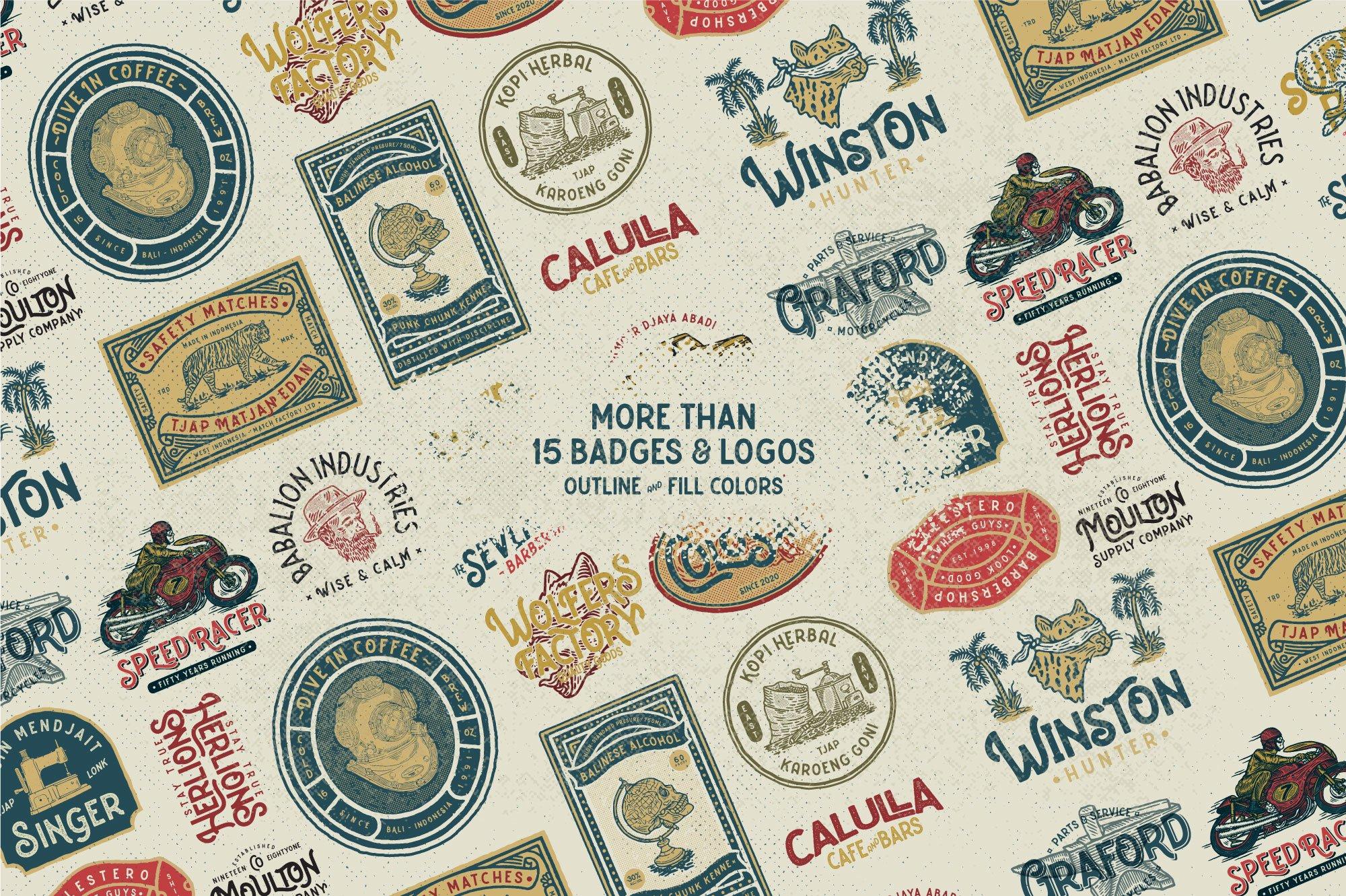 Caltons Typeface With Extra Bonus example image 13