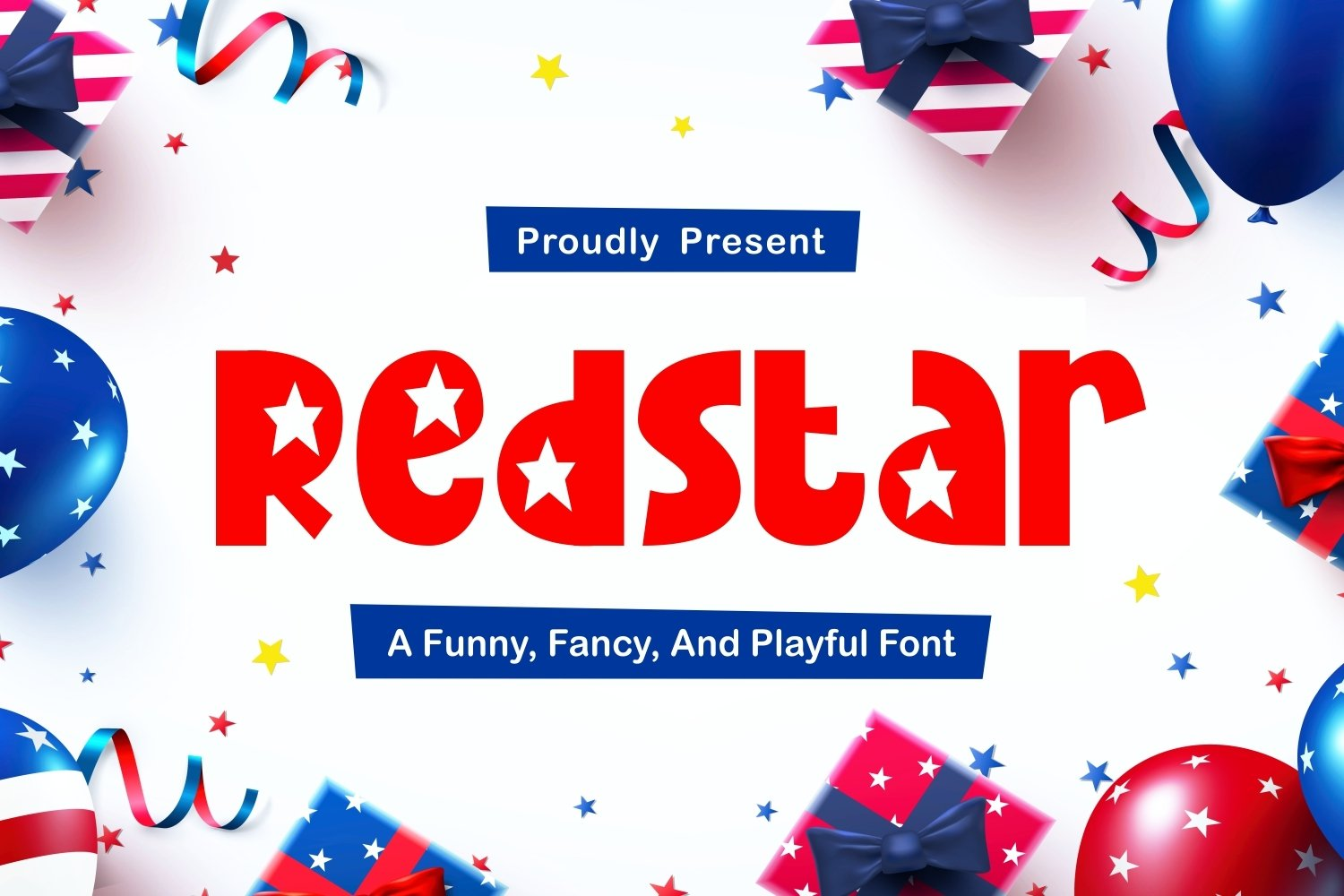 Redstar - Fancy and Funny Font example image 1