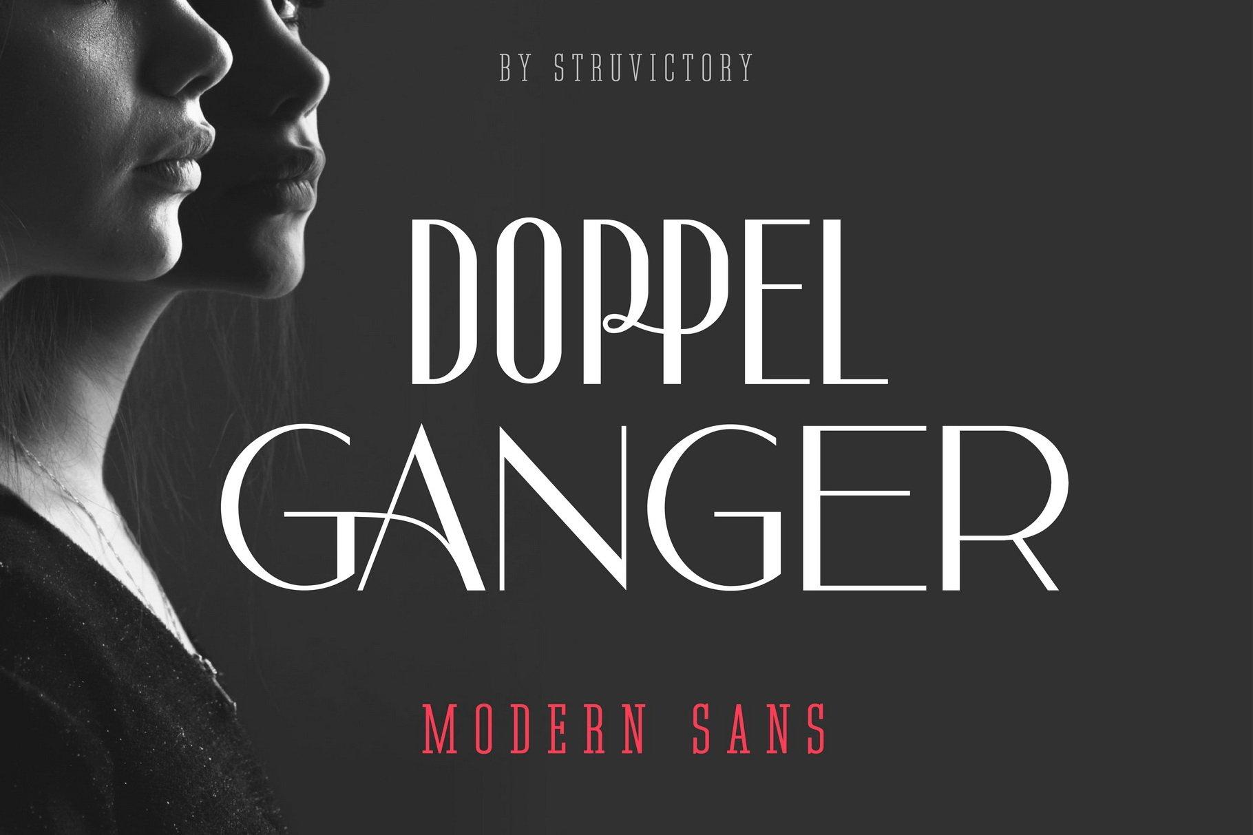 Doppelganger - Modern Sans Serif example image 1