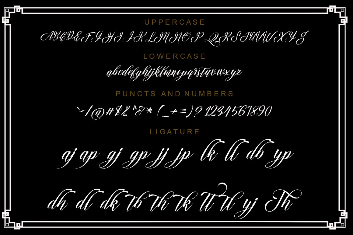 Amanda Script Font Duo example image 6
