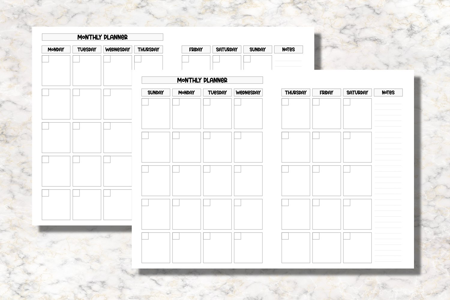 Sea Corals B6 Size Notebook Inserts Planner example image 3