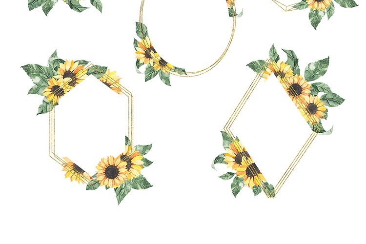 Watercolor Sunflowers collection example image 13
