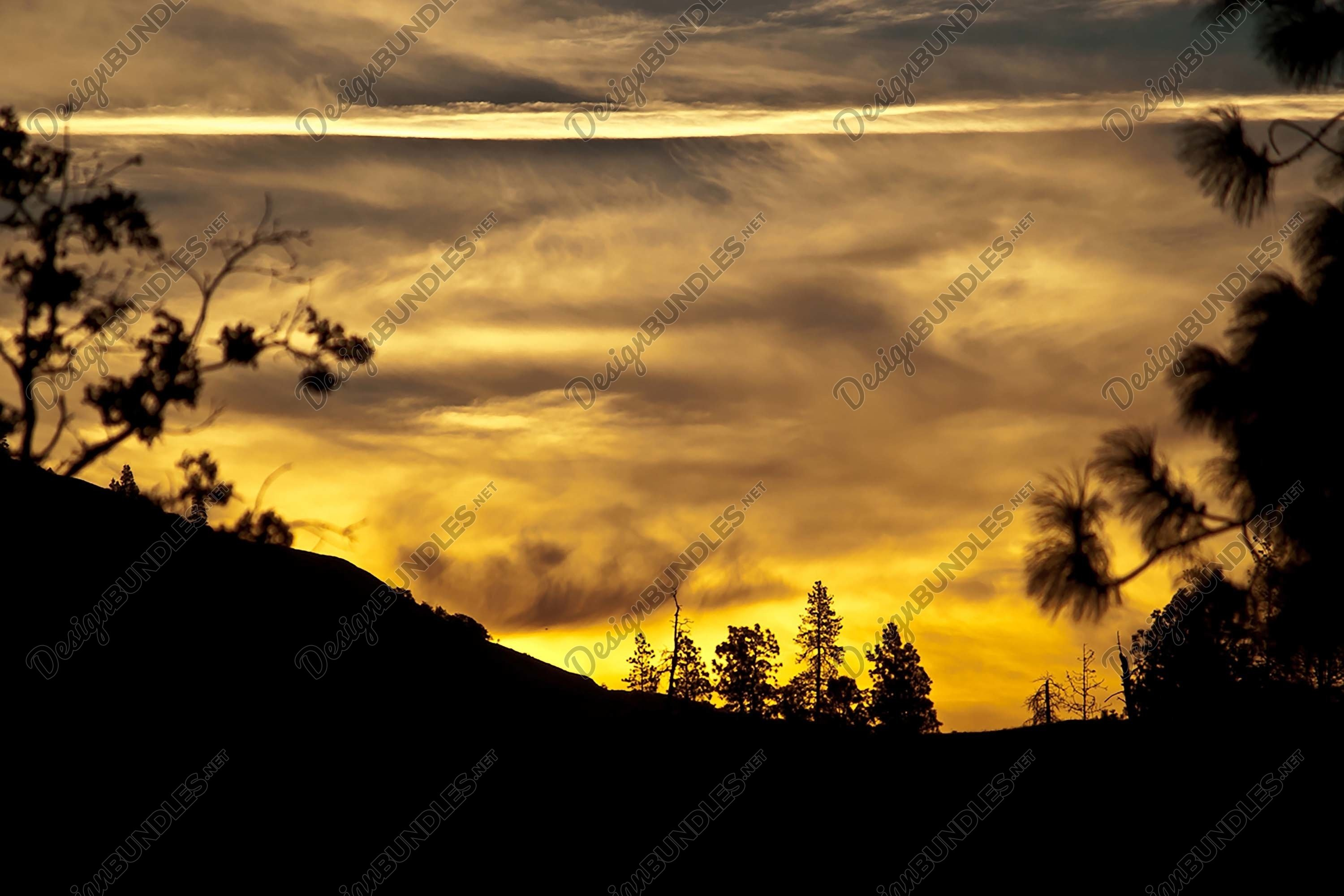 Stock Photo - Sunset over the mountains example image 1