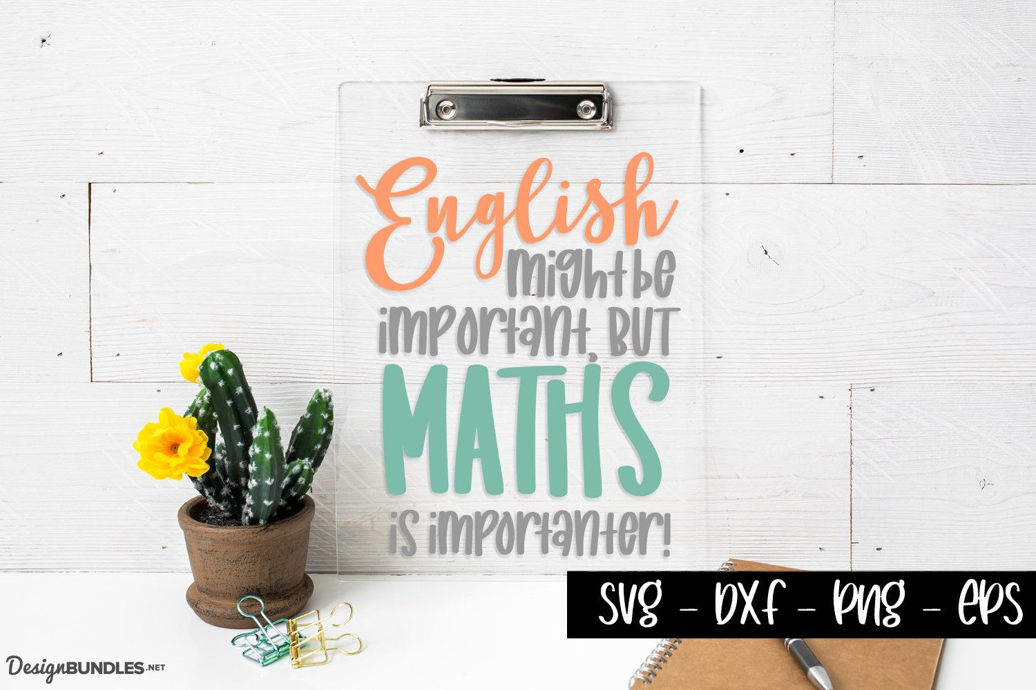 Maths Is importanter - Funny School Quotes example image 1