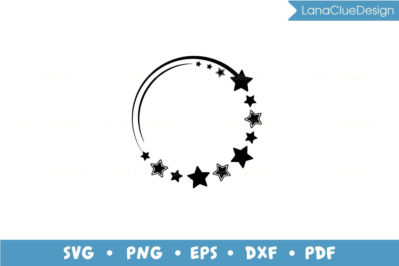 5 Star Circle Frames SVG Bundle, Half Moon with Hearts example image 5