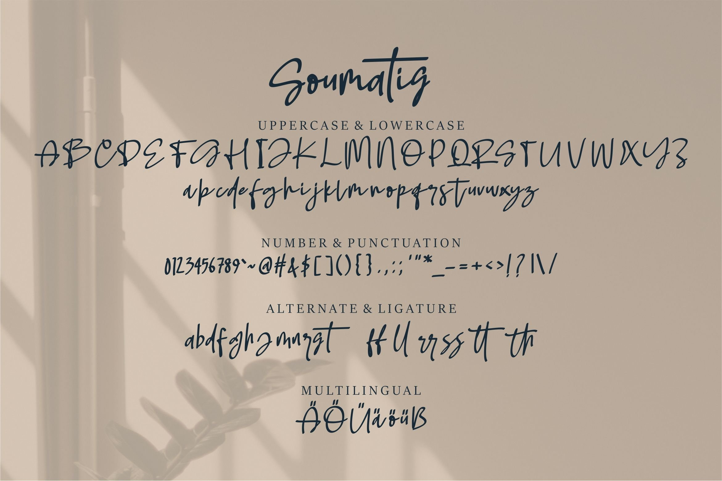 Soumatis - A Stylish Script Font example image 6
