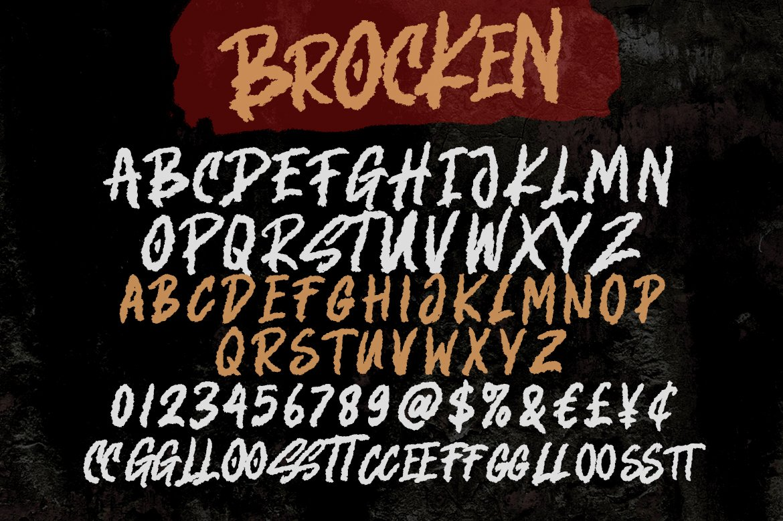 Brocken - Caps Rough Font example image 8