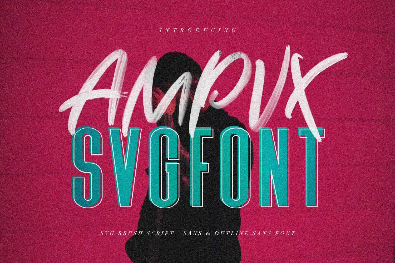 AMPVX SVG Brush Font Free Sans example image 1
