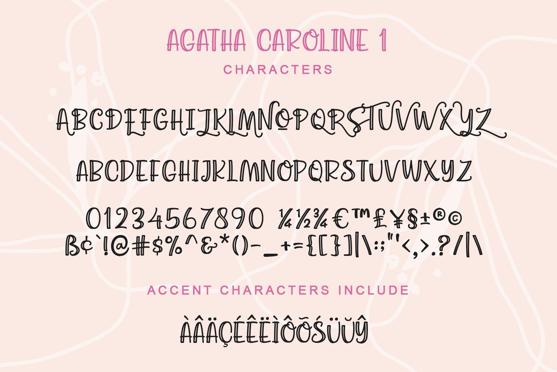 Agatha Caroline - Handwritten Font in 2 Styles example image 6
