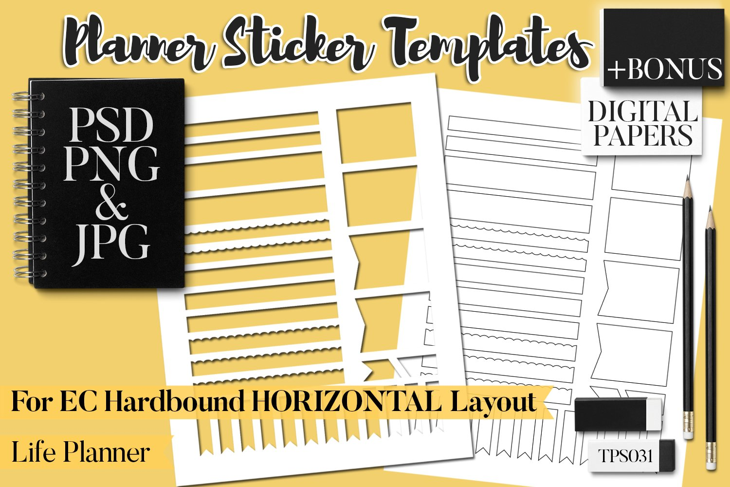 Planner Stickers Templates - Bundle Vol. 11 example image 5
