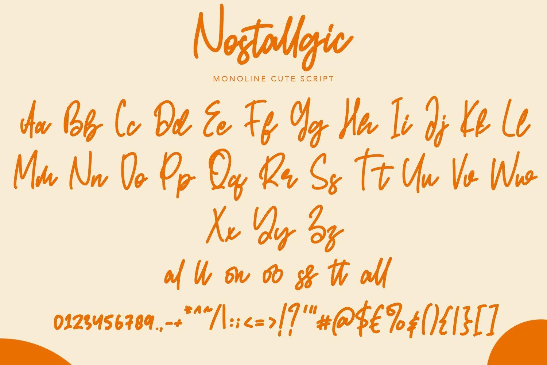 Nostallgic - Script Handwritten Fonts example image 3