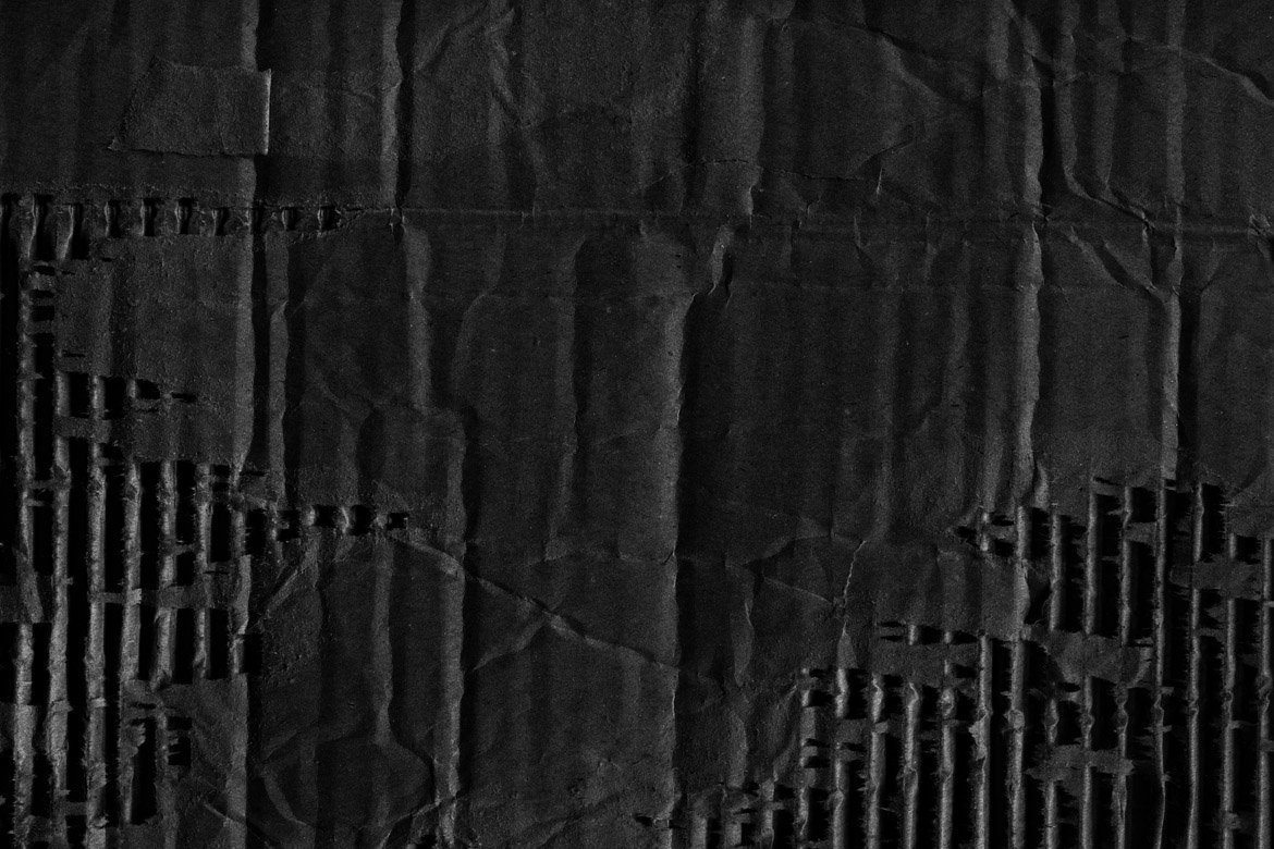 Black Cardboard Textures 3 example image 5
