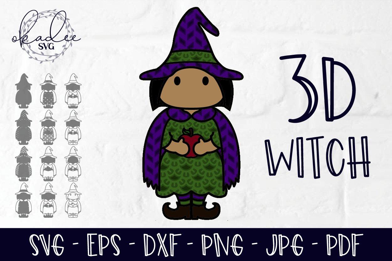 3d Witch Layered Halloween Svg Halloween Papercut 848612 Paper Cutting Design Bundles