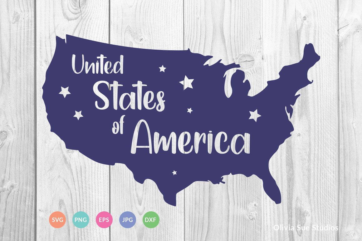 United Stated of America SVG Cut File example image 1