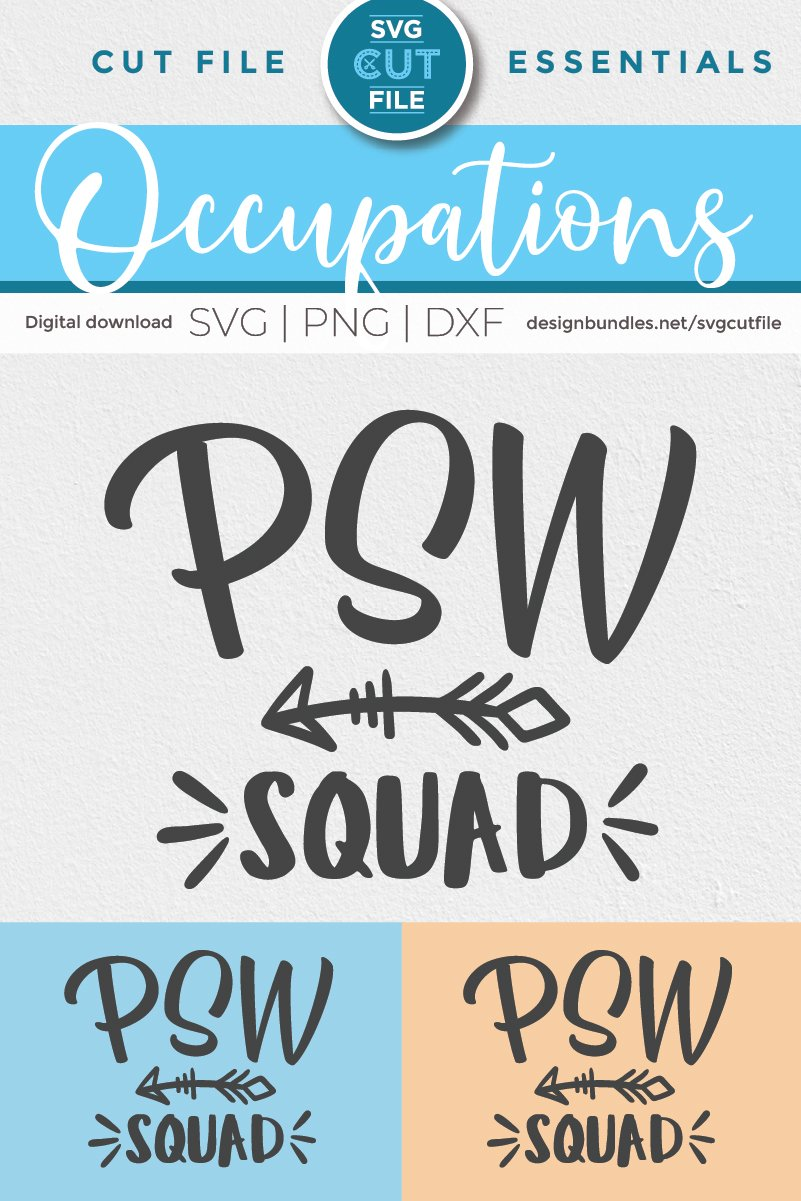 PSW squad with arrow svg-a Personal support worker svg file example image 2