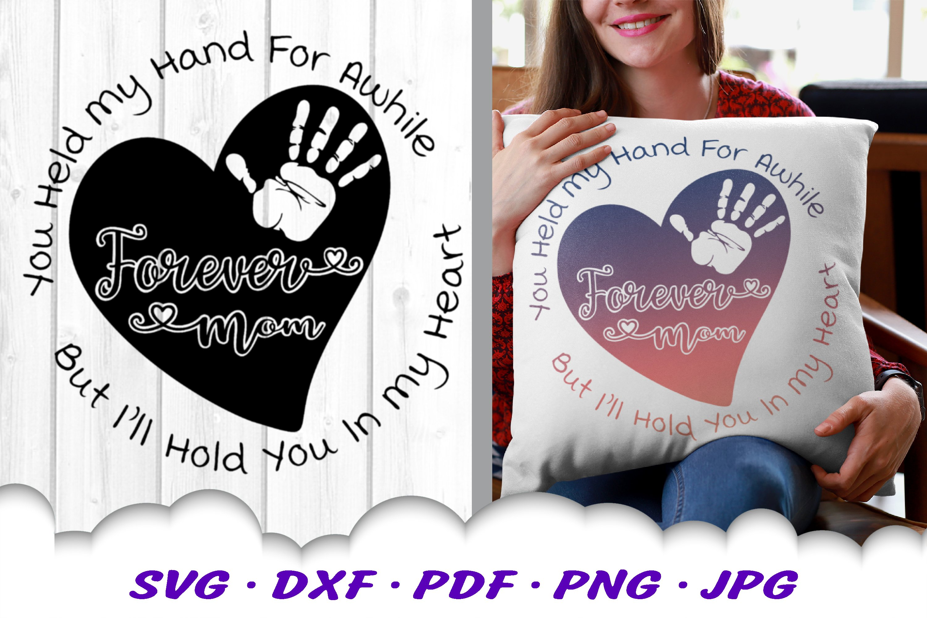 Mother's Day Heart Quote SVG DXF Cut Files example image 4
