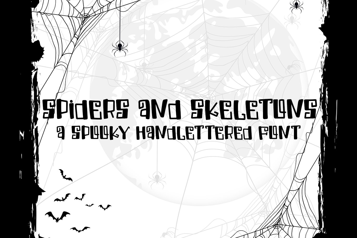 Spiders And Skeletons - A Spooky Hand-Lettered Font example image 1