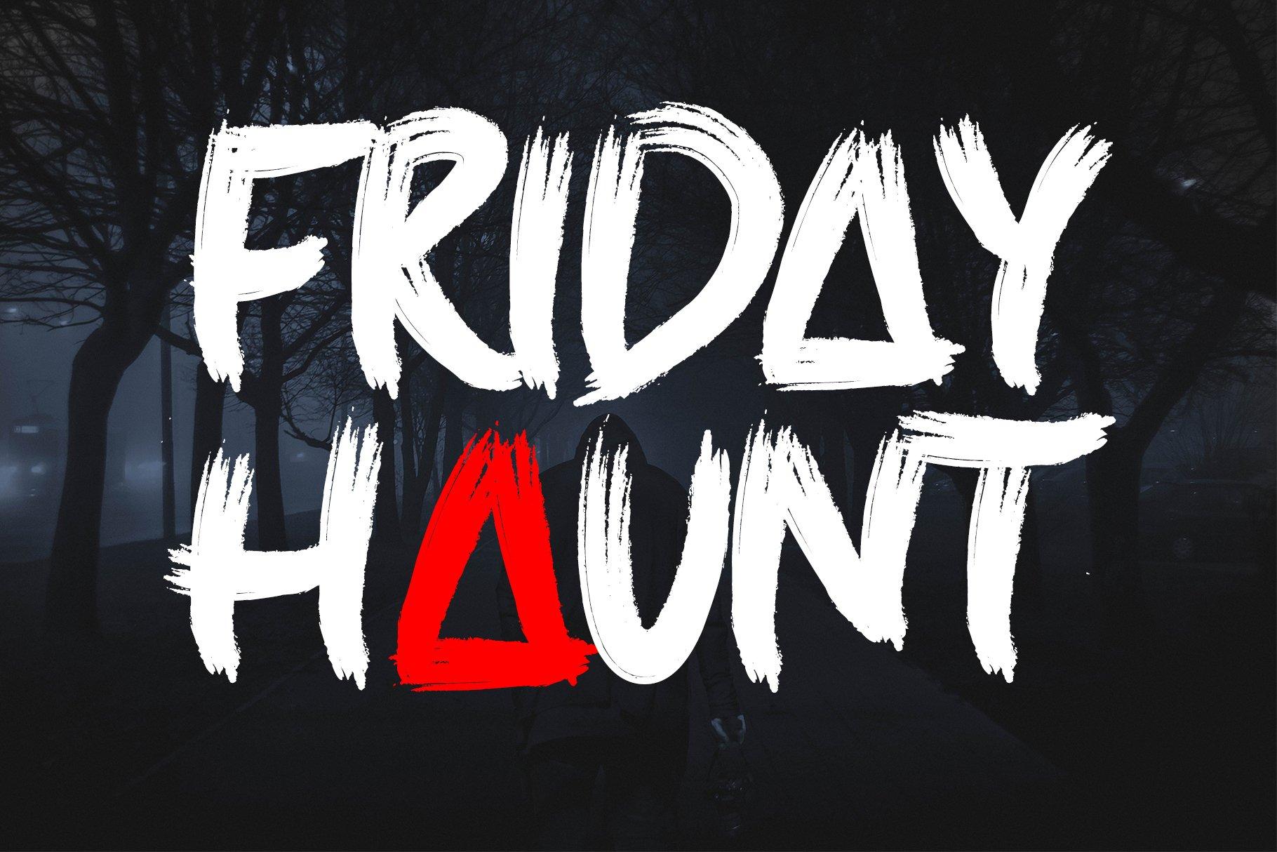 Scary Night - Handwritten Brush example image 6