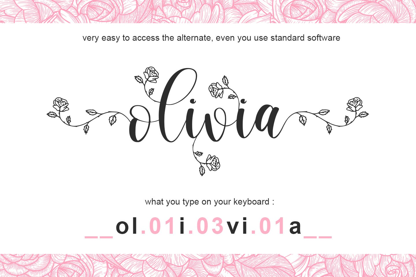 Rhosela -Floral Calligraphy- example image 10