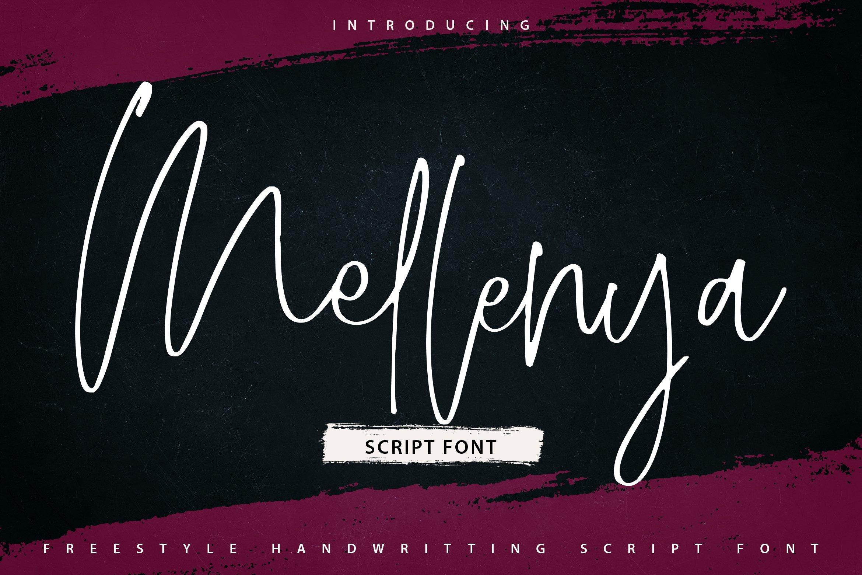 Mellenya | Handwriting Script Font example image 1