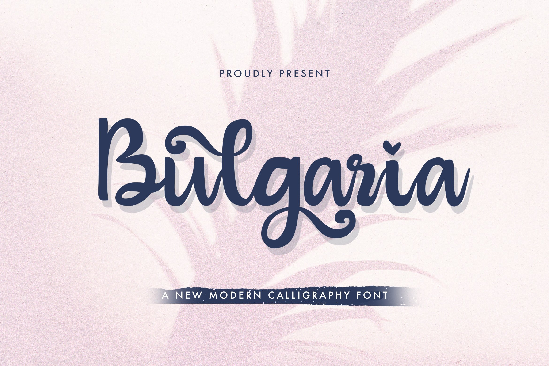 Bulgaria - Modern Calligraphy Font example image 1