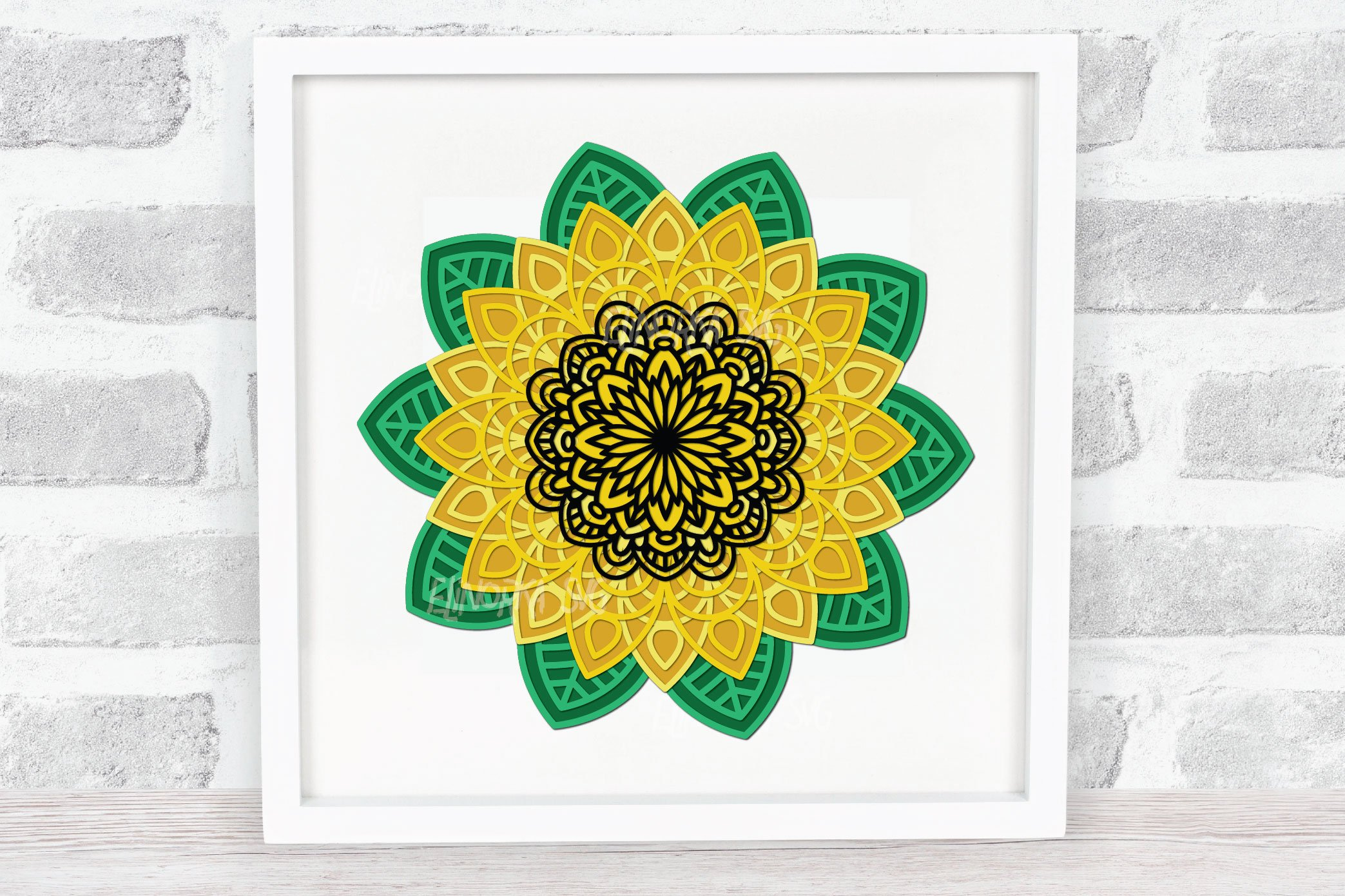 Download Sunflower Mandala SVG | Multi Layer | 3d Layered Cut File ...