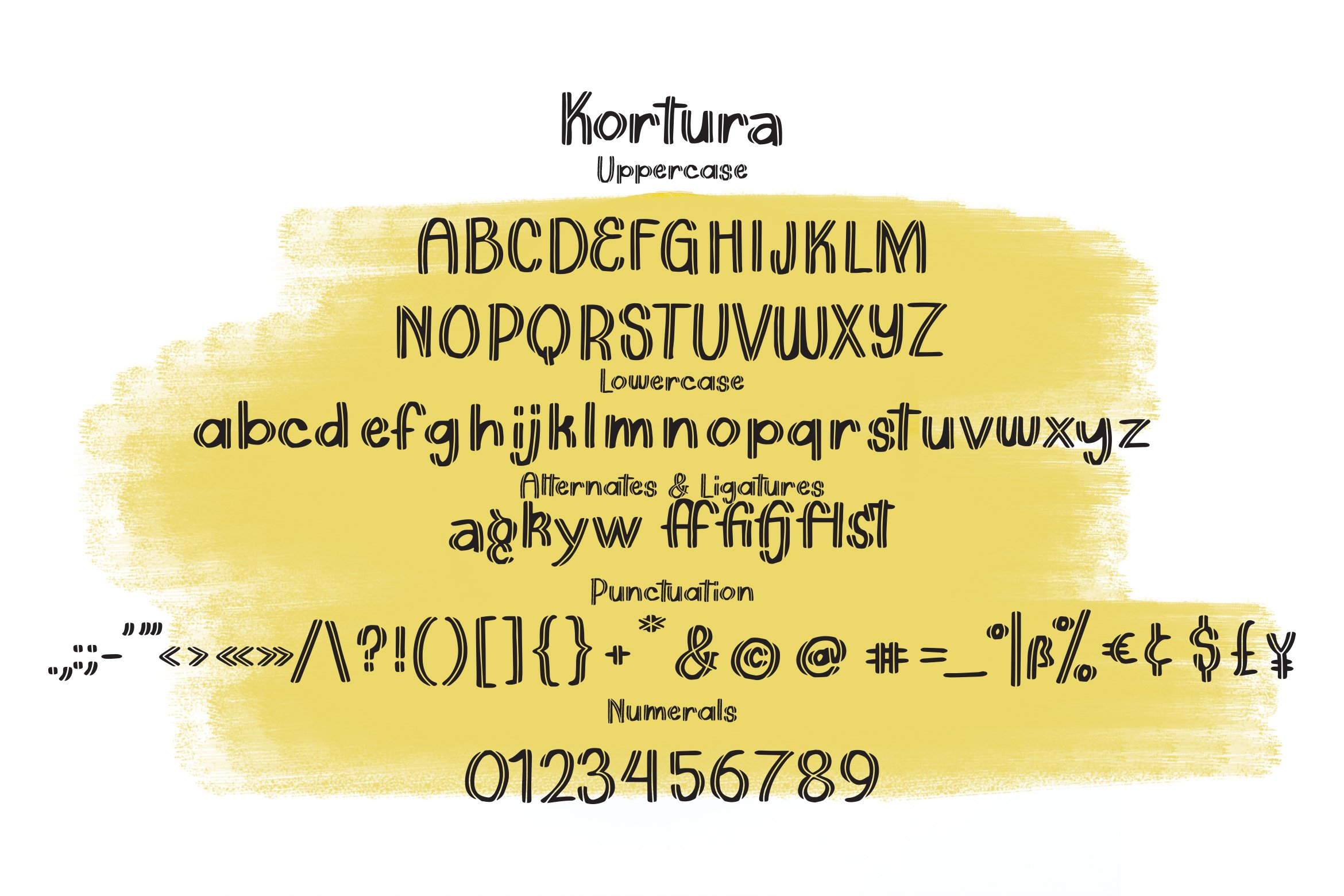 Kortura - Casual Sliced Font example image 3