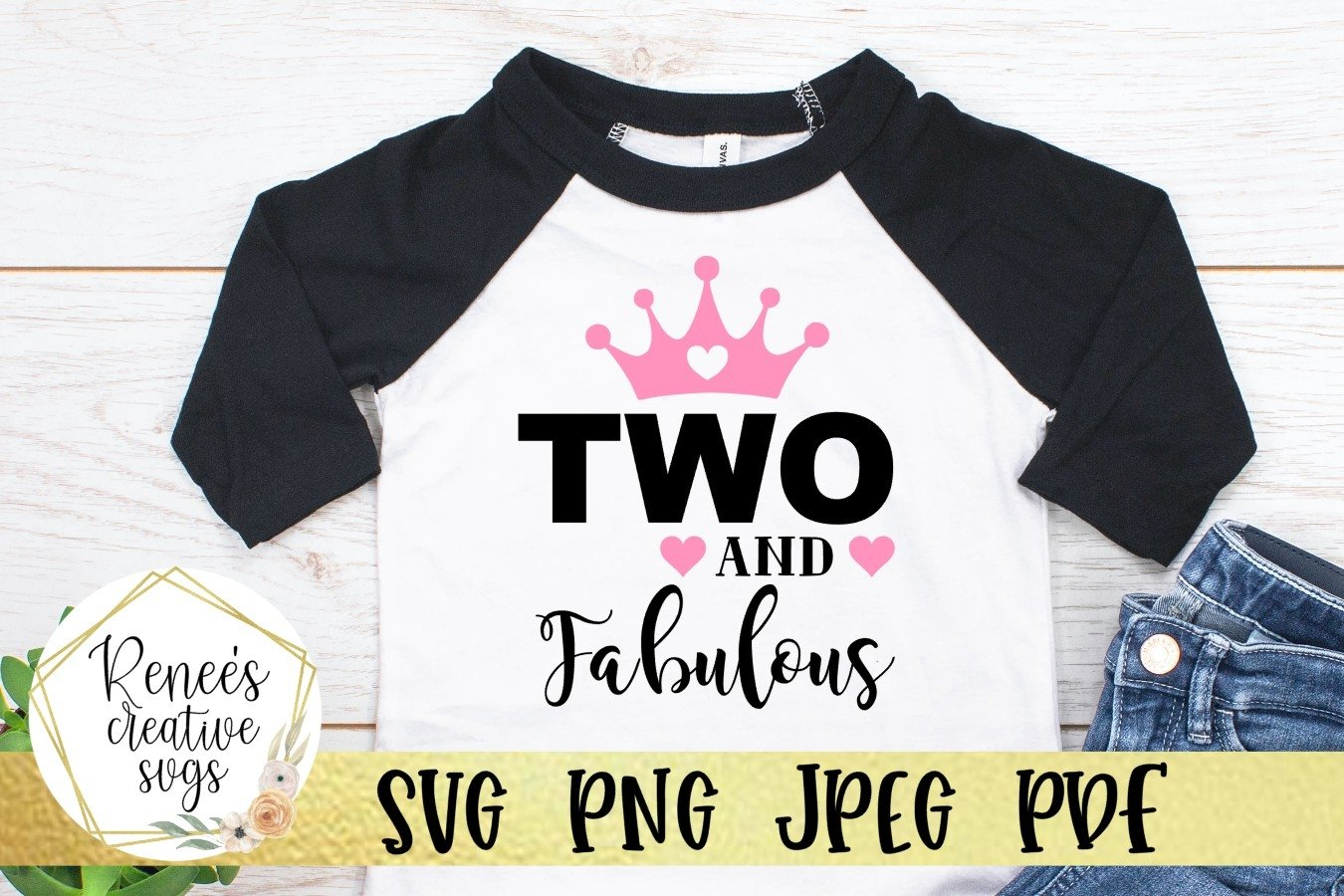 Two And Fabulous | Birthday | SVG Cutting File example image 1