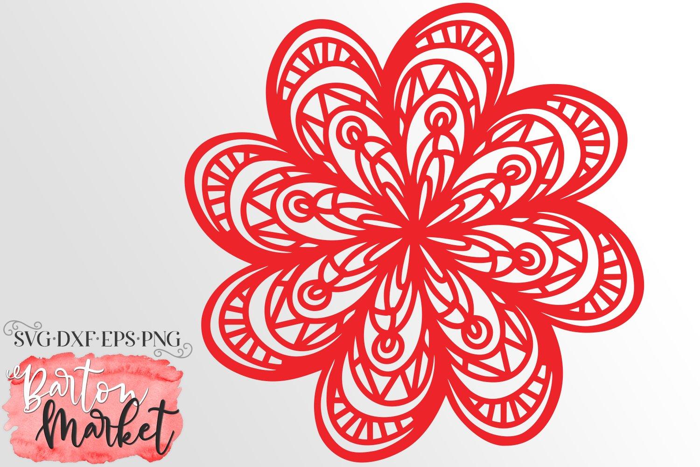 Zaggy Mandala SVG DXF EPS PNG example image 1