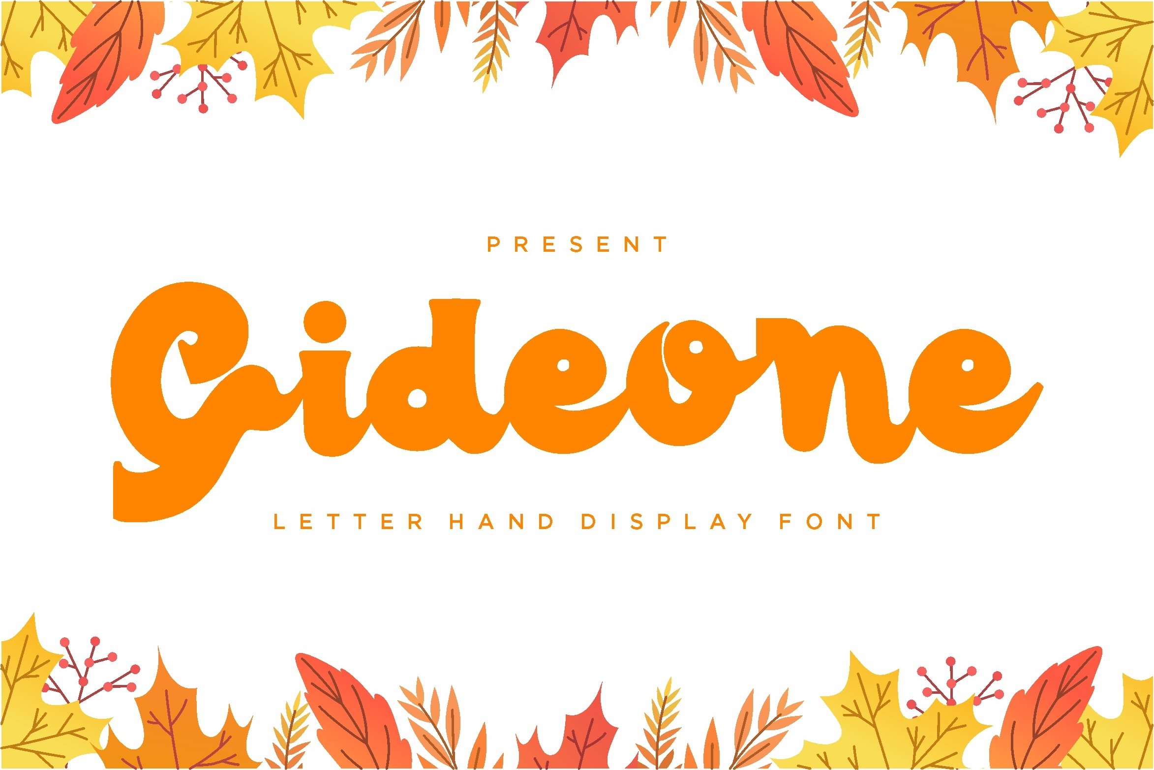 Gideone - Letter Hand Display Font example image 1
